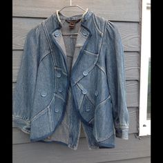 Jean jacket Worn few times in great condition,no rips no stains no nothing.I wear Small&Medium fits me perfect. Marc by Marc Jacobs Jackets & Coats Jean Jackets