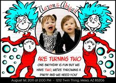 thing 1 and thing 2 So I think I found what I want the boys to be for Halloween and the theme for their 2 year birthday party! What do yall think?