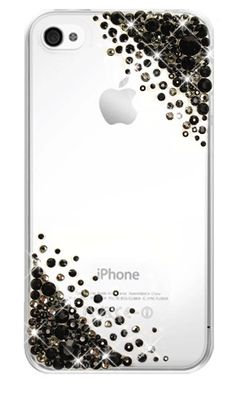 12. iPhone 4 Case. Clear: Ready made from our Atelier Range. Crystal Cascade Black. MADE WITH SWAROVSKI® ELEMENTS. £65 Inc Delivery.