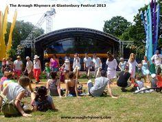 Performing interactive dance at Glastonbury Festival 2013