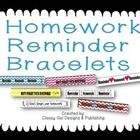 Do your students need a visual reminder that they have homework?  Try Homework Bracelets!  {LIMITED TIME FREEBIE!}