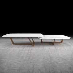 "Modloft Belvedere 2-piece nested coffee table set 79""W X 43""D X 11""H"