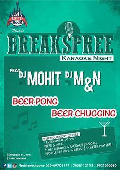 https://www.facebook.com/Bottlerockpune  #Saturday #Pune #Party #Karaoke #BeerPong #Beer #Music