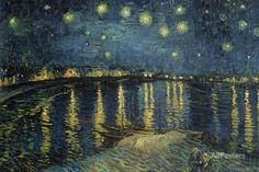 Starry Night over the Rhone, c.1888 Giant Art Print