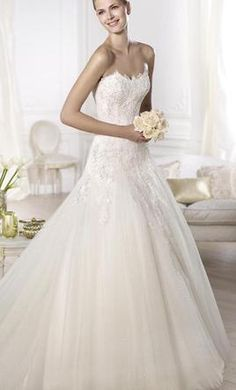 Pronovias  Oberti, find it on PreOwnedWeddingDresses.com