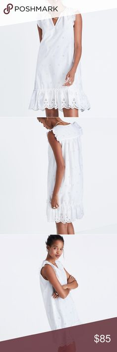 ⚡FLASH SALE ⚡BUY NOW Brand new MADEWELL dress Brand new with tags Beautiful wbite eyelet dress Madewell Dresses