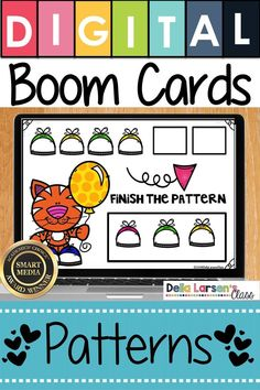 Fun idea for learning patterns. Make the adjustment to kindergarten easier with Boom Cards. Fun ideas for Preschool and kindergarten readiness. Help get your student ready for kindergarten and back to school with a fun game on an iPad or a Chromebook. Be ready for the kindergarten curriculum this fall. #readyforkindergarten #kindergarten #backtoschool #readiness Preschool Learning Activities, Home Learning, Learning Resources, Classroom Activities, Music Classroom, Learning Games, Kindergarten Curriculum, Music Education, Health Education