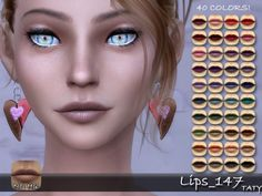 Simsworkshop: Lips 147 by Taty • Sims 4 Downloads