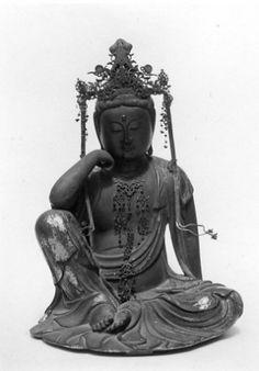 Nyoirin Kannon © The Metropolitan Museum of Art Theravada Buddhism, Buddhist Meditation, Different Feelings, Human Mind, Metropolitan Museum, Illusions, Zen, Aesthetics, Statue