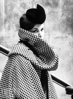 Coat and Hat by Pierre Cardin, 1959