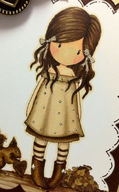 purple princess' pretty things: Gorjuss in Sepia Naive Art, Antique Photos, Cute Images, Cute Characters, Art Plastique, Cute Dolls, Big Eyes, Stone Painting, Cute Drawings