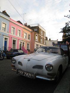 Car off Portobello Road, London