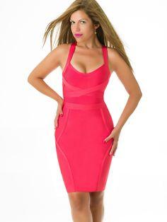 Vestidos de Bandas Rosa VB267