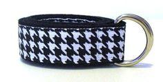 Black & White Houdstooth D-ring Belt | Boys Belt | Girls Belt | Kids Belt | Toddler Belt - Cute Beltz