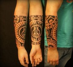 best samoan tattoos and meanings Forearm Band Tattoos, Body Art Tattoos, Sleeve Tattoos, Future Tattoos, Tattoos For Guys, Tattoo No Peito, Bracelet Tattoo For Man, Tribal Armband, Tribal Arm Tattoos