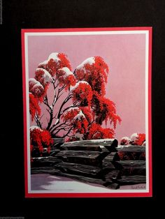 38 best eyvind earle christmas cards images on pinterest christmas 364 pyracantha fence unused eyvind earle xmas greeting card stunning m4hsunfo