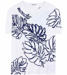Embroidered T-shirt   Moncler