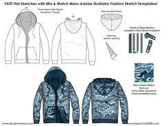 Mens Flat Fashion Sketch Templates - My Practical Skills   My Practical Skills
