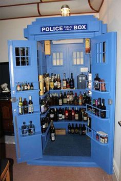 TARDIS Liquor Cabinet. It's bigger on the inside