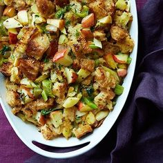 Caramelized Onion Stuffng with Apples and Sage