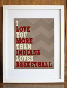 """I Love You More Than Basketball - 8""""x10"""" Printable Art"""