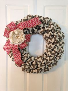 Easter chevron wreath fall options by SimpleCountryBurlap on Etsy, $50.00