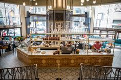 Lena is a new restaurant with historic roots. It& located in the former Hudson Bay (now Saks ) and the multi-storey venue embraces t. Beautiful Interior Design, Beautiful Interiors, Eaton Centre, Brunch Items, Coffee Places, Building Art, Top Restaurants, Grand Staircase