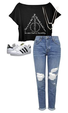 """"""".//...//../..."""" by anna-mae-equils on Polyvore featuring Topshop, adidas Originals and Michael Kors"""
