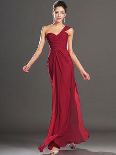 Inexpensive Wedding Dresses, Cheap Prom Dresses, Chiffon Evening Dresses, Strapless Dress Formal, Evening Gowns, Bridesmaid Dresses Under 100, Red Bridesmaids, One Shoulder Prom Dress, Purple Dress