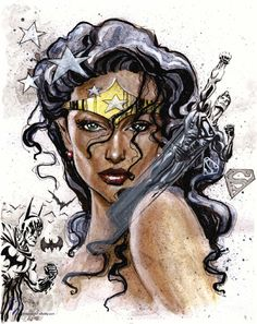 Wonder Woman Not Easily Broken by Gary Shipman Comic Art #WonderfulImage #SobeautifulWoman