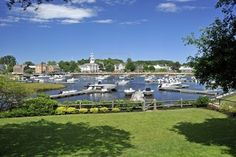 View of the Harbor of the town Manchester-by-the-Sea. MA, USA Stock Photo