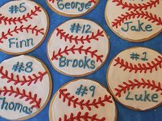Too cute of an idea if your child plays sports! Put each team members name & number on their cookie & of course you can adjust the cookie theme for whatever sport they play, soccer, etc.