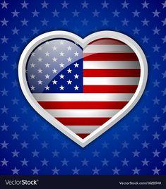 God Bless America, Fourth Of July, Adobe Illustrator, Vector Free, Badge, Pdf, American, Heart, Illustration