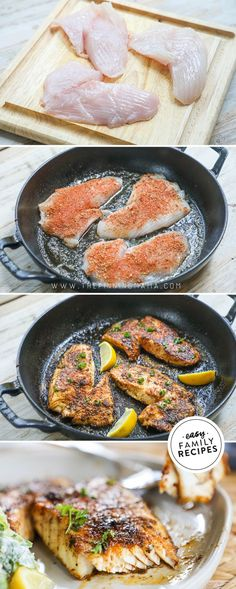 ALL TIME BEST Blackened Fish! This recipe is SO EASY and makes the perfect healthy fish dinner. The blackened fish seasoning is quick and easy to make and full of the most delicious flavor. You can make it spicy or mild to taste. Perfect for an easy dinner idea, this Blackened Fish is not only delicious, but quick to make with only a few ingredients and a skillet! I use a cast iron skillet, but this blackened fish can be made with any skillet. Try it with a few sides for a light and…