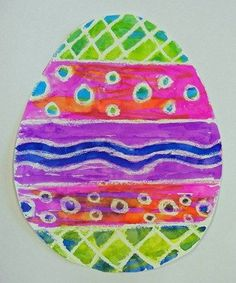 3rd - Watercolor/Crayon Resist Easter Eggs
