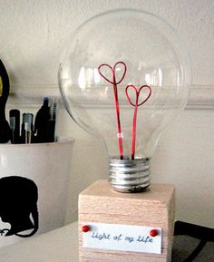 40+ DIY Valentine Gift Ideas for Boyfriend & Husbands - Valentine Lightbulb - DIY Valentines Gifts for Him