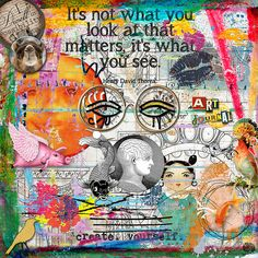 Art Journaling  For Digi Dare #340: My Scrapbooking Style.  Elements from Fiddlette Designs, Erica Zane, Holliewood Studios,...