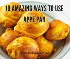 10 Amazing Ways to use Paniyaram/Aebleskiver Pan - Anto's Kitchen Baby Food Recipes, Indian Food Recipes, Snack Recipes, Cooking Recipes, Healthy Recipes, Healthy Snacks, Chicken Recipes, Stone