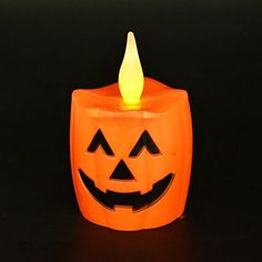 IREALIST LED Lights,Wavy Flickring Flameless Halloween LED Candles, Battery Operated LED Pumpkin Candles,Pack of 4 PCS -- Awesome products selected by Anna Churchill