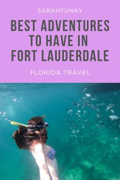 Greater Fort Lauderdale is an adventure traveler's dream, with a huge variety of active experiences in the area. Everyone knows that Florida has beautiful beaches, but you would be surprised to find out how much more there is to do there other than relaxing on a beach. On my recent trip to Fort Lauderdale, I took part in three adventure activities which left me loving Fort Lauderdale even more - click through to find out more. | SarahFunky #adventure #florida #fortlauderdale #adventuretravel Usa Travel Guide, Travel Usa, Travel Guides, Florida Vacation, Florida Travel, Travel Jobs, Budget Travel, Adventure Activities, Adventure Trips