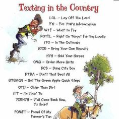 "Makes as much sense to me as the ""Real"" texting does!!!"