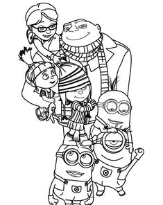 Free Full Page Coloring Sheets Despicable Me