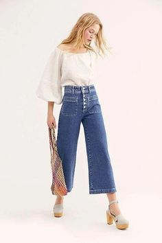 Best Jeans For Women Skinny Work Trousers – thedearlover Wide Jeans, Cropped Wide Leg Jeans, Dark Jeans, Jeans Skinny, Wide Leg Pants, Skinny Pantalon, Beste Jeans, Best Jeans For Women, Dresses