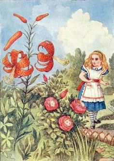 Image result for alice flowers tenniel