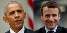 Barack Obama a téléphoné à Emmanuel Macron