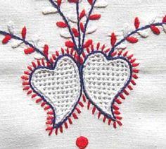 Bordado de Viana - Corações  Viana do Castelo embroidery