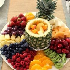 fruit fountain...
