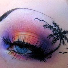 tropical makeup