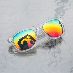 Clearly partnered with It Gets Better Project - #LoveisLove rainbow sunglasses