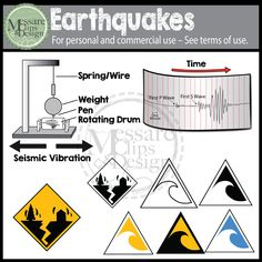 This realistic Earthquake and Tsunami Clip Art Set contains 49 individual high resolution graphics. All color graphics are shown in the downloadable preview and come with the black and white paired image.